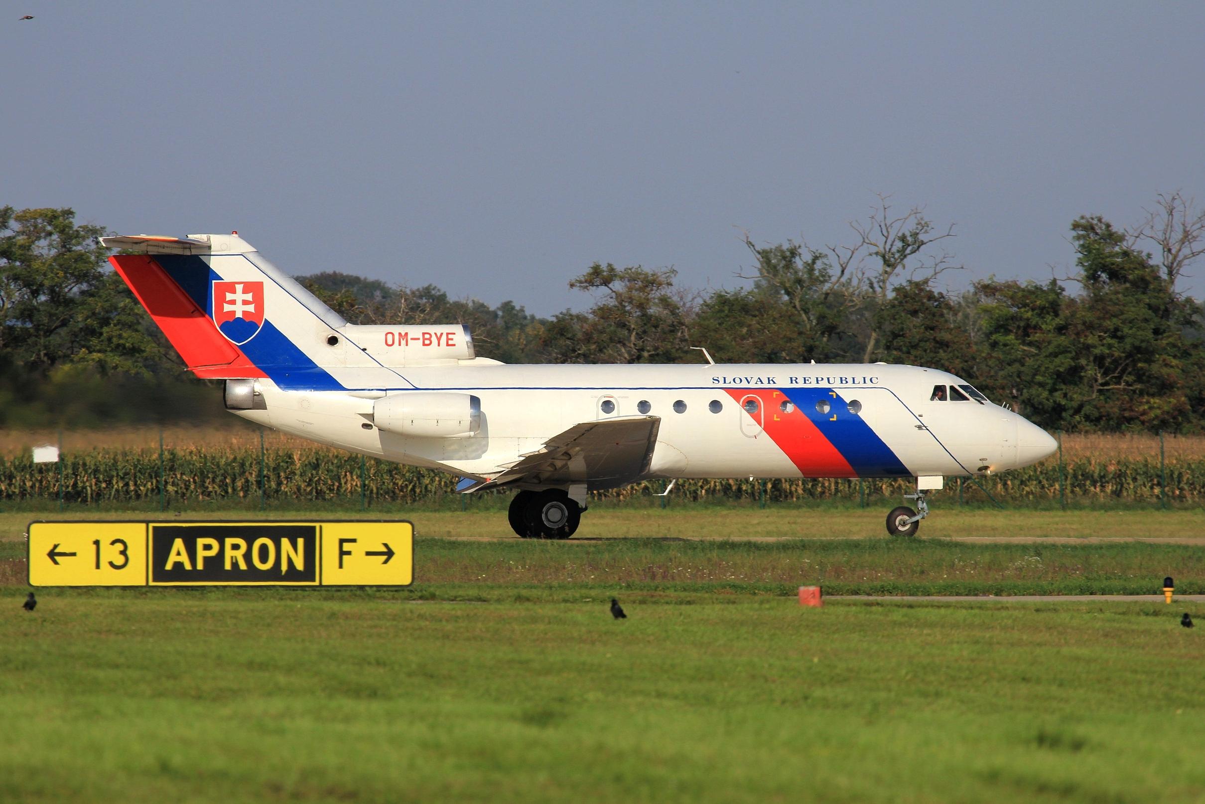 Slovak Government Yak-40 OM-BYE